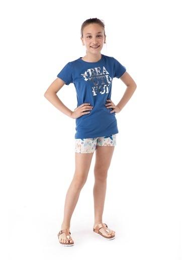 Pamuk & Pamuk Kelebek Desen Genç Kız Şortlu Pijama Takım Renkli